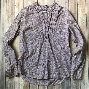 J. Crew ruffle button front blouse sz Large